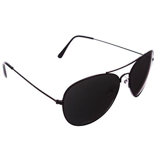 [Black Top Gun Aviator Sunglasses] (Old School Hollywood Costumes)