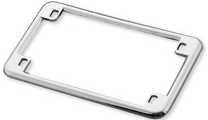 Slim Rim Chrome Motorcycle License Plate Frame ()