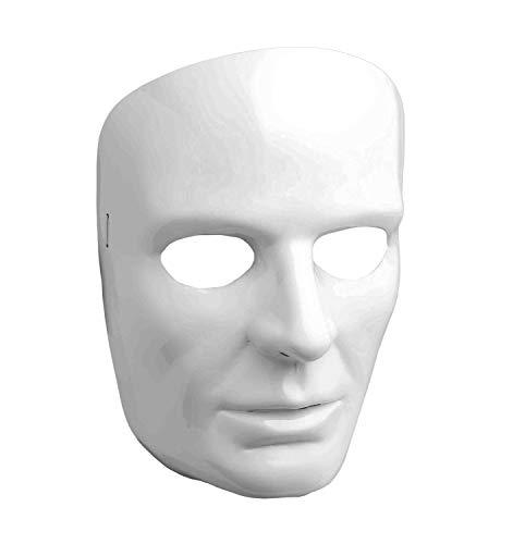 (Forum Novelties 67838 Men's White Full Face Mask, One Size, Pack of)