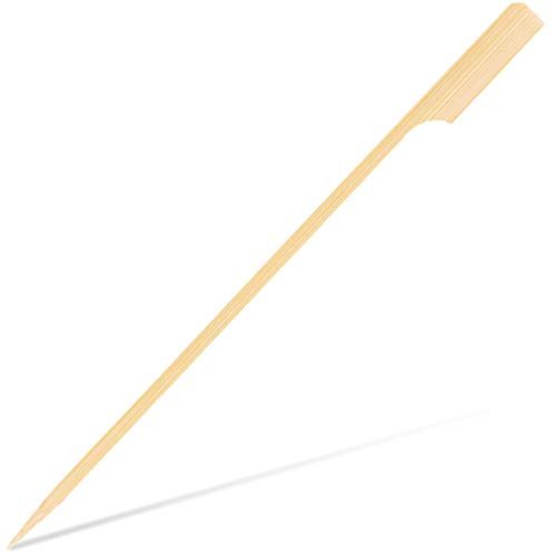 Juvale Set of 200 Bamboo Kabob Skewers - Bamboo Appetizer Skewers, BBQ Skewers for Outdoor Grilling, Marshmallows, Fondue, Shrimp, Brown - 7 Inches