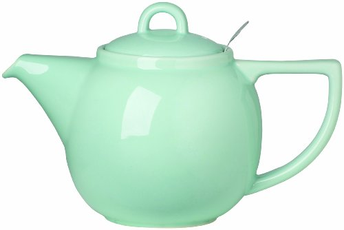 - London Pottery Geo Teapot with Stainless Steel Infuser, 4 Cup Capacity, Aqua Blue