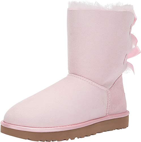 UGG Women's Bailey Bow II Metallic Seashell Pink 8 B US (Pink Bows Uggs)