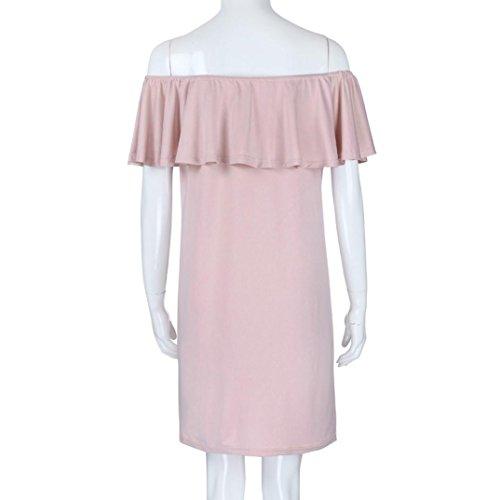 Vestito Maniche Gaddrt Corte Rosa Donna Pq5w5