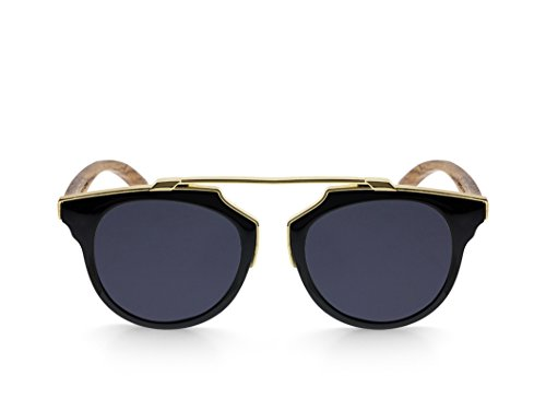 Black Polarized GOLD Woodsunglasses modelo NEGRA sol MIX MOSCA de Gafas xYO8qg0wHn