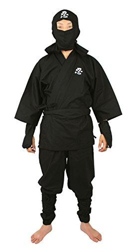 [Edoten Jananese Ninja Uniform Black XL] (Female Secret Agent Costumes)