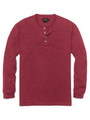 Pendleton Men's Deschutes Henley Shirt, Deep Burgundy Hea...