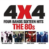 4 X 4 Four Bands Sixteen Hits - the 80s: Amazon co uk: Music