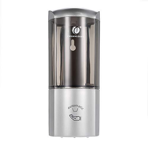 Anself CHUANGDIAN 200ml Wall Mount Manual Soap Dispenser Liquid Shampoo Shower Gel Hand Dispenser (Silver (Automatic))