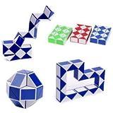 Reenee International Magic Cube Snake Puzzle Twist Ruler 24 Blocs Educational Funny Toys for Children (New_Jombo Size) (Random Color)