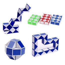 Magic Cubes Shengshou 24 Blocks Magic Cube Ruler Colorful Snake Twist Puzzle Ruler Cube Strange Shape Cube Educational Toys For Children