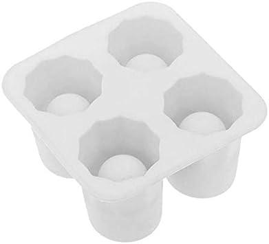 Molde de cubitos de hielo Cubo de hielo de silicona del molde tiradores del vidrio de tiro for hacer helado de hielo bandeja del cubo de la barra del partido de verano de la cerveza la bebida del hiel