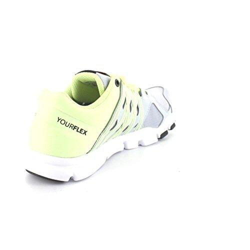 Reebok Yourflex Trainette 8.0, Zapatillas de Gimnasia para Mujer Gris  (Cloud Grey / Lemon Zest / White / Coal)