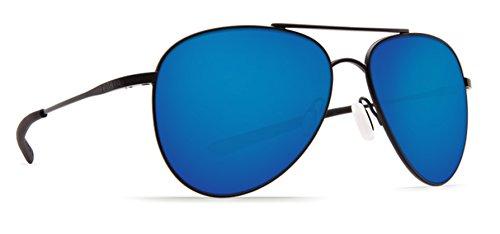 Costa Del Mar Cook 580P Cook, Satin Black Blue Mirror, Blue - James Bond Sunglasses