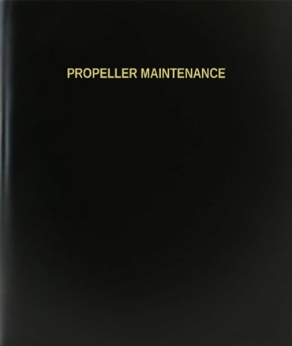 BookFactory® Propeller Maintenance Log Book / Journal / Logbook - 120 Page, 8.5