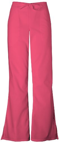 Low Rise Flare Scrub Pant - WorkWear 4101 Women's Low Rise Flare Scrub Pant Carnation Pink X-Large Tall