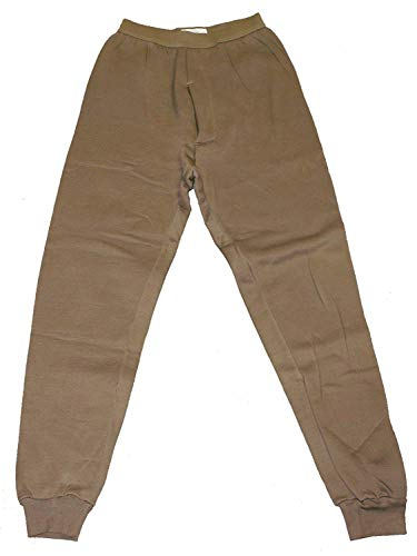 (Genuine Issue Thermal Bottom, Polypro, Brown, Size Medium)