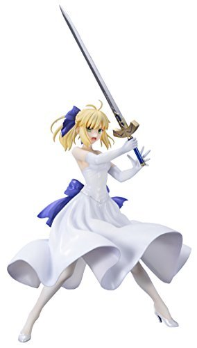 Bell Fine (BellFine) Fate/stay night [Unlimited Blade Works] Saber white dress Ver. 1/8 Scale Painted PVC figure (Dress Ver Pvc Figure)