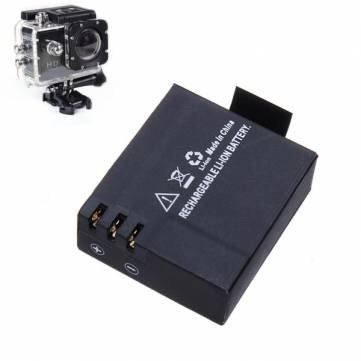 Amazon.com: 3.7V 900mAh Li-ion Battery for Car Sports Camera ...