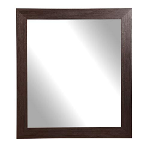 BrandtWorks AZBM081M2 Framed Non Beveled Mirror 32 x 36 Dark -