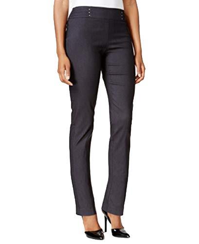 JM Collection Petite Waverly Denim Pull-On Pants (Waverly Denim, PS)