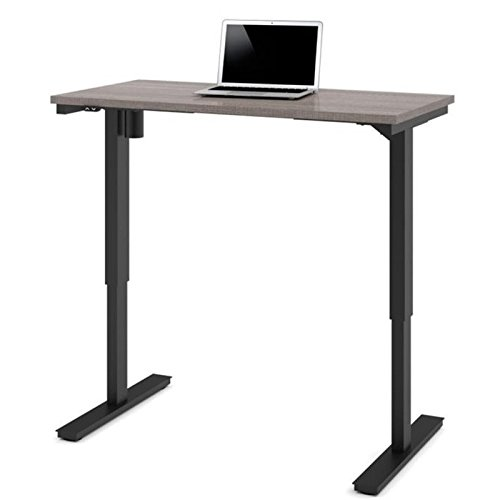 Electric Height Adjustable Table in Bark Gray Review