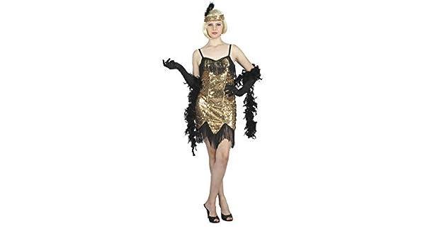 DISONIL Disfraz Cabaret Dorado Mujer Talla S: Amazon.es: Juguetes ...