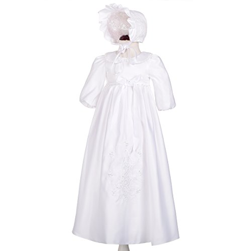 - Dressy Daisy Baby Girls' Christening Gown Dress Baptism Dress Special Occasion Dress Beaded Embroidered Dress Size 6 Months White