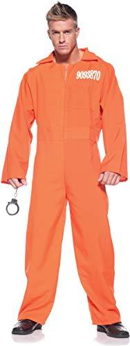 Men's Prisoner Costume - Prison Jumpsuit -