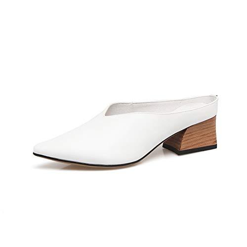 BalaMasa Womens Dance-Ballroom Solid Travel Urethane Pumps Shoes APL11193 White