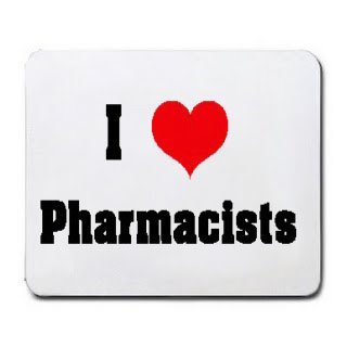 I Love/Heart Pharmacists Mousepad [Office Product] by T-ShirtFrenzy [並行輸入品] B00VVYZB5I