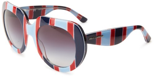 D&G Dolce & Gabbana 0DG4191P 27198G50 Oversized Sunglasses,Stripes Azure & Red,50 - D&g 2013 Sunglasses