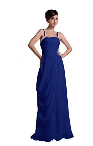 Novia Mall spaghtti de la mujer correas cuentas Evening Party vestidos azul azul real 46