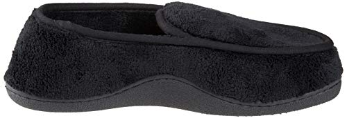 Pictures of ISOTONER Men's Microterry Slip On Slipper A95019BLKLG 3