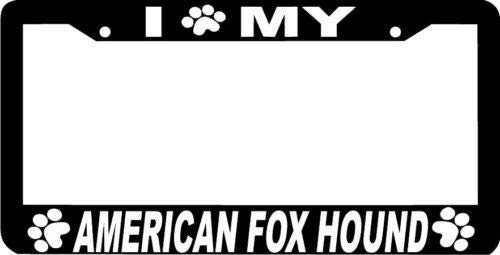 HuiyaoEC Custom Metal I (Paw) My American Fox Hound Licence Plate Frames, 12x6 Inch Stainless Steel Anti-Rust & Corrosion. 2 Round Holes & Screws for Standard Size US & Canada (The Fox And The Hound 2 Trailer)