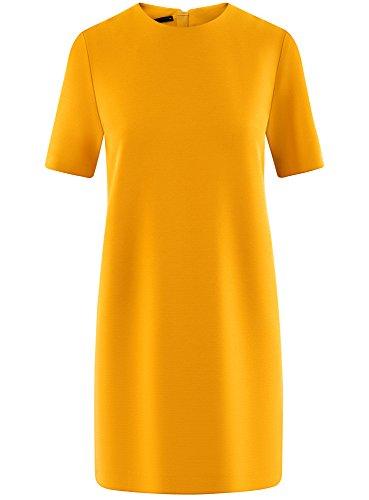 Unie Droite Coupe oodji 5200n Robe Femme Jaune Collection wBHtqSP