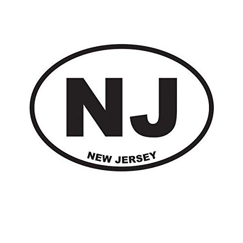 ION Graphics Magnet New Jersey State Oval Magnetic Vinyl NJ 5