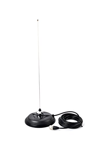 HYS TC-155 6.1'' NMO Magnet Antenna Mount for CB Radio W/5M(16.4ft) RG58 Coaxial Cable PL-259 Plug by HYS (Image #3)