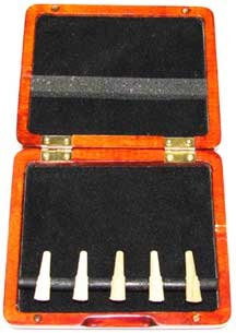 5-Reed Bassoon Reed Case Stained Wood