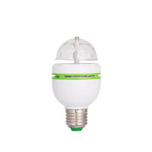 Kangnice 3W E27 RGB Crystal LED Ball Light Rotating Stage Bulbs Disco Party Bulb Lamp (Green)