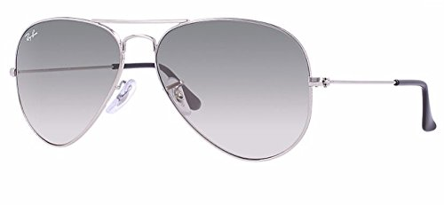 (Ray Ban RB3025 003/32 62M Silver/ Gray Gradient Aviator)
