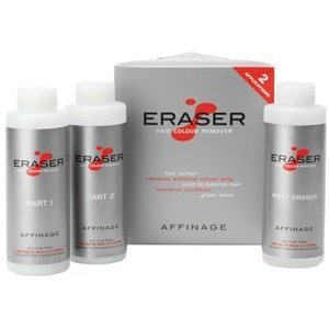 Affinage Eraser Salon Professional Hair Colour Remover / Stripper of Dye & Tint - WITH FREE BOTTLE OF 6% (necessary for treatment)