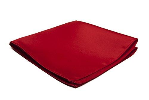 Jacob Alexander Men's Pocket Square Solid Color Handkerchief - Red (Handkerchief Pocket Red)