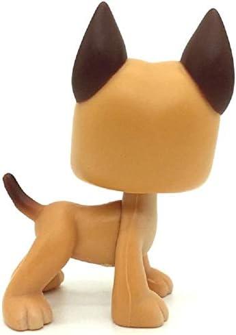 LPS Toy Rare LPSs Brown Great Dane Dog Puppy Blue Eye Toy N//N Littlest Pet Shop