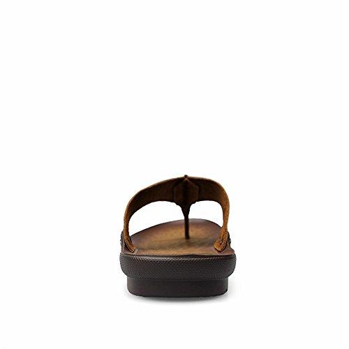shoes pelle antiscivolo EU Sandalo Cachi Color sandalo Mens Morbido 42 casual da Dimensione uomo stile 2018 Infradito in 0w57HqxT
