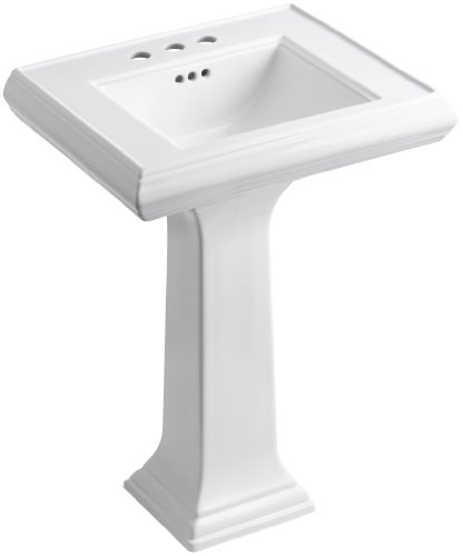 - KOHLER K-2238-4-0 Memoirs Pedestal Bathroom Sink with 4