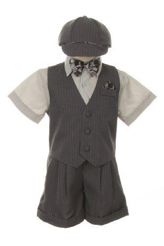 Traje Traje Vestido Set-Shorts, Bowtie, chaleco, camisa y sombrero ...