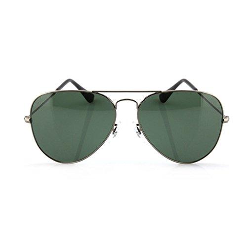 Gun Pilote de Soleil Fashion Ai Color Mirror Lunettes lele Mirror de Green Dark Solaire Outdoor Protection Confortable Gun Trend Couleur Lunettes Color xttgUE