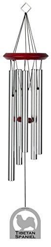 Chimesofyourlife E4204 Wind Chime, Tibetan Spaniel/Silver, 19-Inch