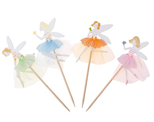 YunKo Cupcake Toppers Cake Decorative Toppers Cupcake Decorating Tools for Party (Fairy girl 24 pcs)