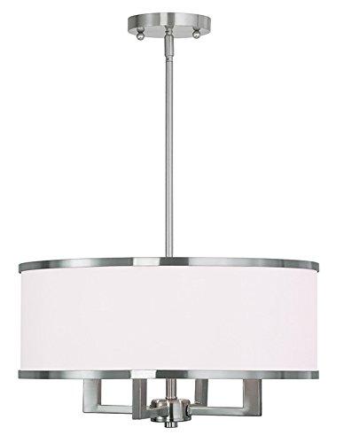 Livex Lighting 62615-91 Park Ridge 4 Light Chandelier, Brushed Nickel